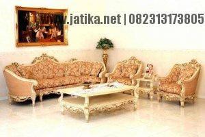 Set Kursi Tamu Sofa Mewah Ukir Emas