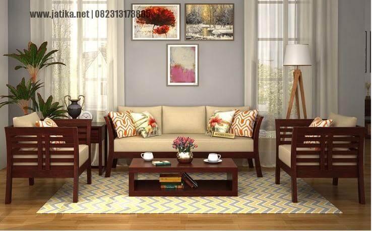Set Ruang Tamu Minimalis Jati Klasik