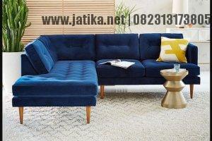 Sofa Sudut L Minimalis Model Retro Vintage