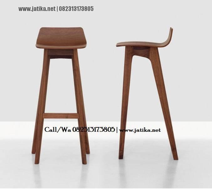 Kursi Bar Dan Cafe Model Simple Stool