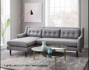 Kursi Tamu Sofa Sudut Retro