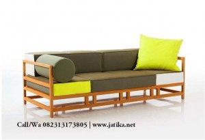 Sofa Minimalis Rangka Bingkai Kayu Jati