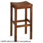 Kursi Bar Cafe Stool Simple Kayu Jati