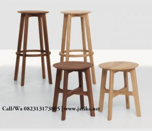 Kursi Bar Model Stool Murah Kayu Jati