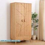 Lemari Pakaian Kayu Jati Model Vintage 2 Pintu