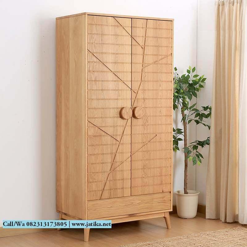 Lemari Pakaian Kayu Jati Model Vintage 2 Pintu | JATIKA FURNITURE