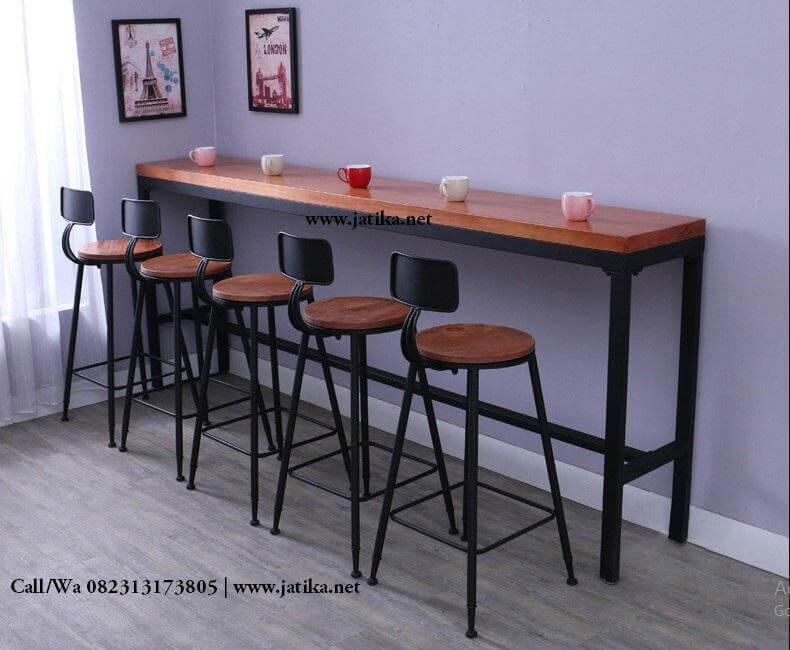 Set Kursi Bar Murah Rangka Besi