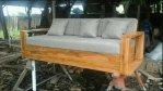 Bangku Sofa Retro 3 Dudukan