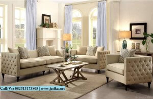 Set Kursi Sofa Chester Mewah Jepara