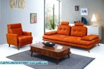 Set Kursi Sofa Orange Model Vintage