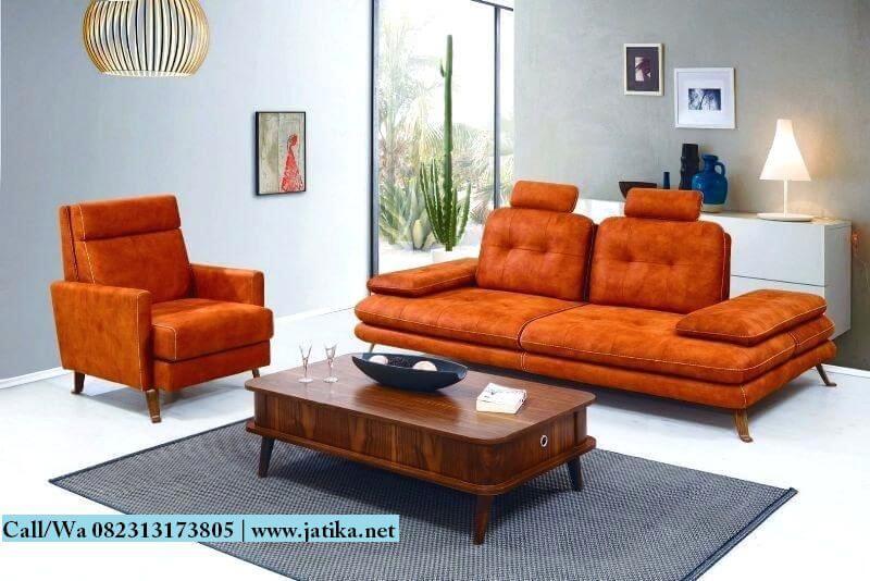 Set Kursi Sofa Orange Model Vintage | JATIKA MEBEL