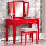 Meja Rias Duco Merah Menawan