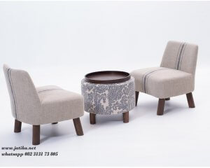 Kursi Teras Sofa Model Meja Bundar