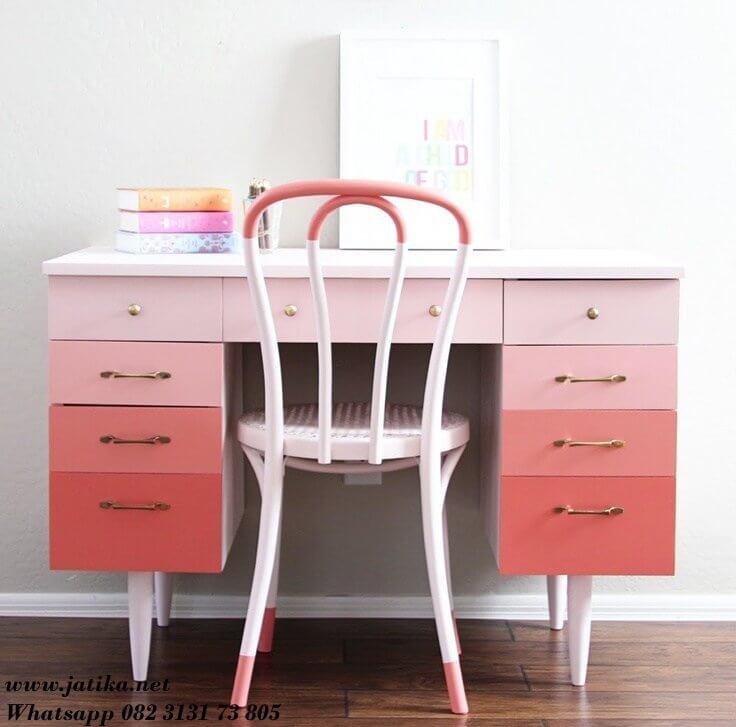 Meja Belajar Anak Perempuan Warna Warni
