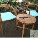 Set Kursi Teras Cafe Murah Kayu Jati