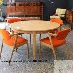 Set Meja Makan Vintage Orange