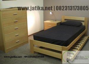 Set Tempat Tidur Anak Laci Minimalis