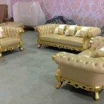 Set Kursi Sofa Mewah gold Cester