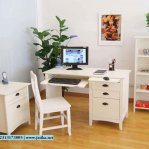 Set Meja Kerja dan Belajar Minimalis Duco