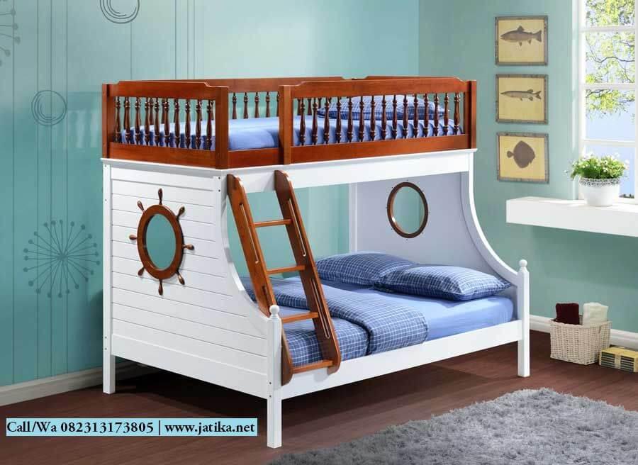 Tempat Tidur Tingkat Anak Desain Perahu | JATIKA FURNITURE