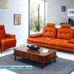 Set Kursi Sofa Orange Model Vintage