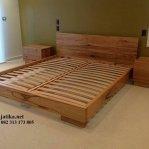 Set Tempat Tidur Minimalis Kayu Jati Solid