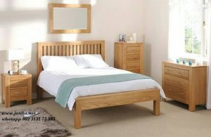 Set Tempat Tidur Minimalis Kayu Jati